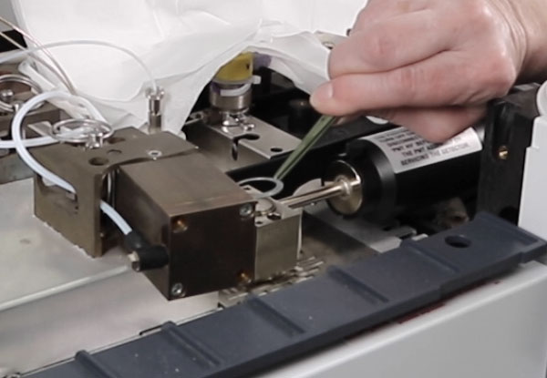 Application Scientist then removes the Crusher Washer - Step 4