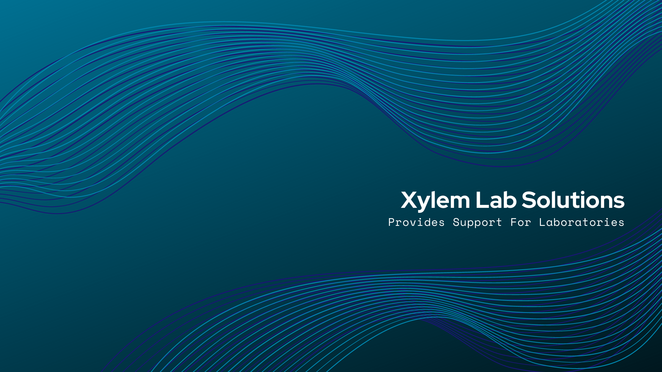 Xylem Lab Solutions Provides Support